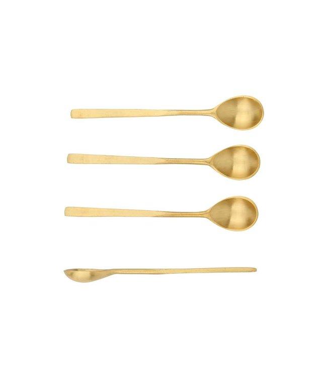 Set van 4 theelepels 'Java' - gold