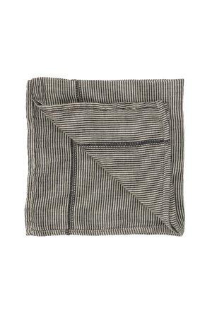 Caravane Napkin Noé, washed linen - laurier stripes