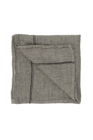 Caravane Servet Noé, gewassen linnen - laurier stripes