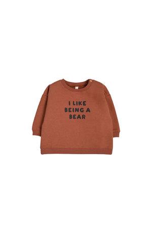 Organic Zoo Sweatshirt 'I like being a bear'