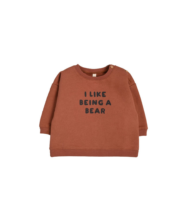 Organic Zoo Sweatshirt 'I like being a bear'