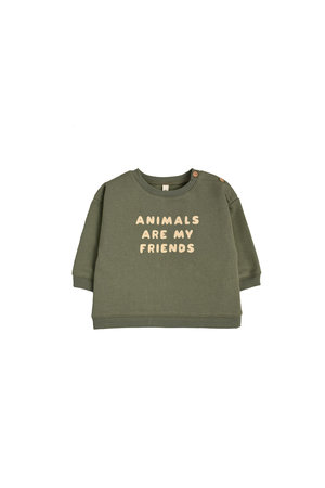 Organic Zoo Sweatshirt 'animals are my friends'