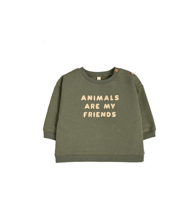Organic Zoo Sweatshirt 'animals are my friends'