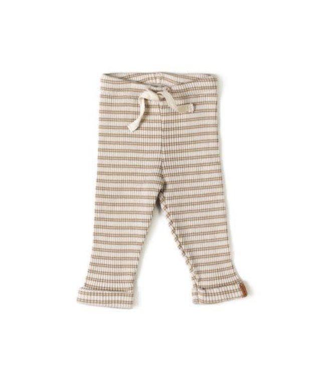 Rib legging - biscuit stripe