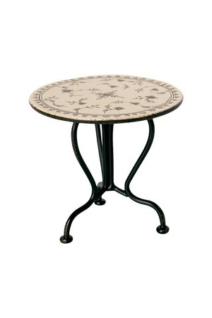 Maileg Vintage tea table, micro - anthracite