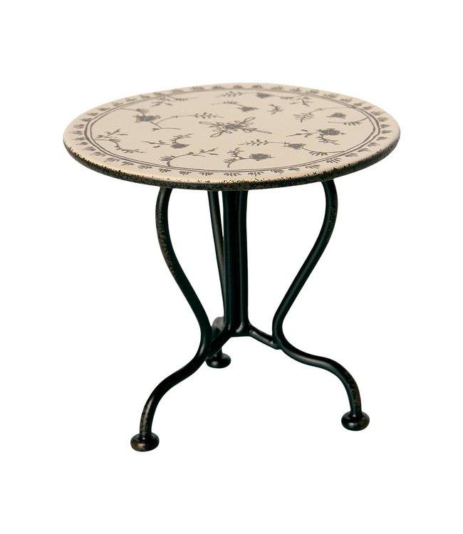 Vintage tea table, micro - anthracite
