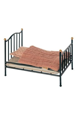 Maileg Vintage bed, mouse - anthracite