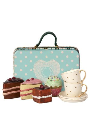 Maileg Suitcase with cakes & tableware for 2