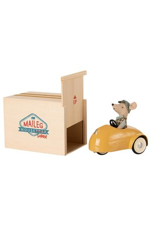 Maileg Mouse car with garage - yellow
