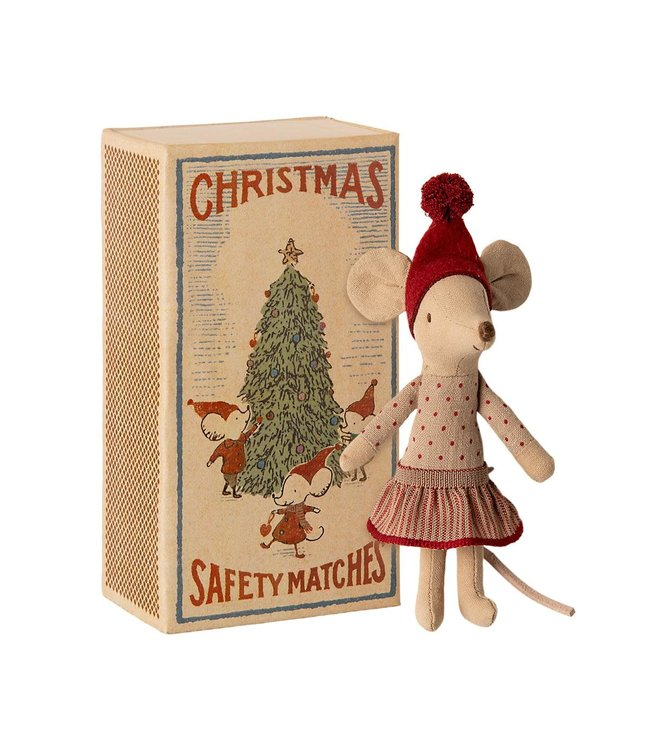 Maileg Christmas mouse in box - big sister