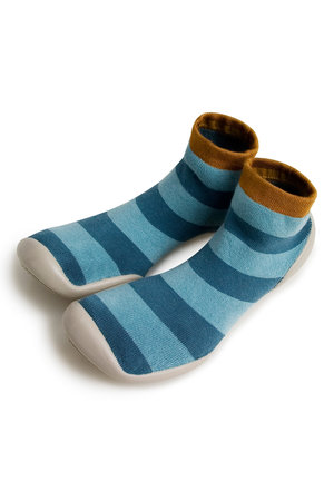 Collégien Slippers - blue stripes