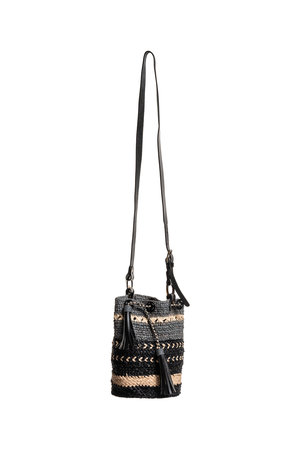 Sans Arcidet Addis bag jean - noir/naturel