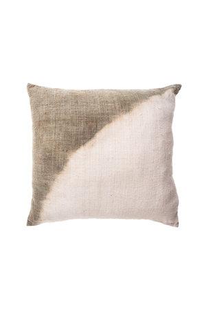 Cushion dip-dye corner aqua green