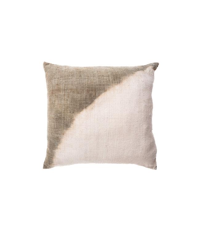 Cushion dip-dye corner - aqua green