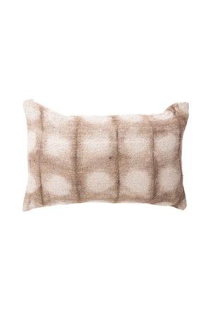 Cushion bourrette de soie dots light grey