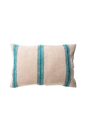 Cushion alpaga escalera turquoise