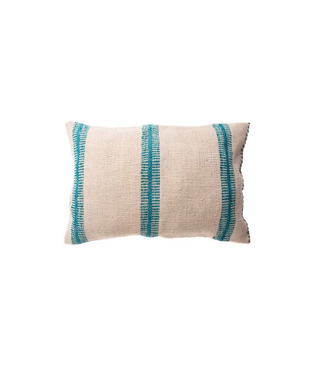 Cushion alpaca escalera - turquoise