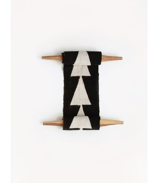 AAAA Bogolan totem - intention - black/white