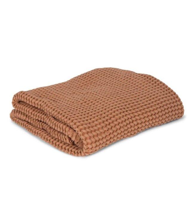 Mallino Waffle blanket - cinnamon