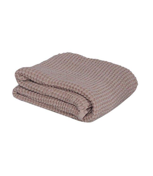 Waffle blanket - powder