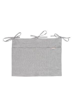 Mallino Linen crib organizer - misty grey