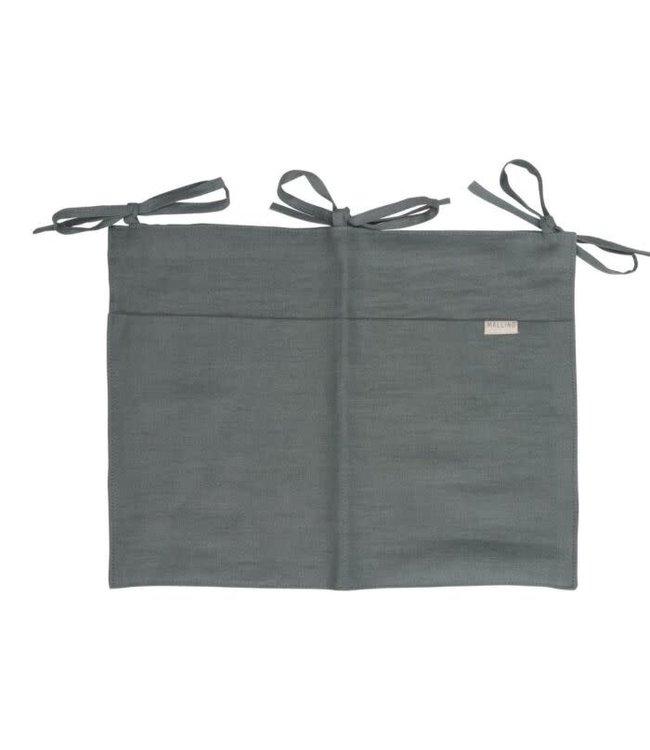 Linen crib organizer - steel blue