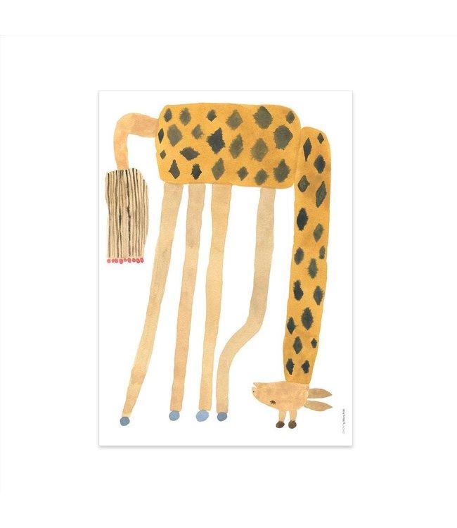 Noah giraffe upside down - poster