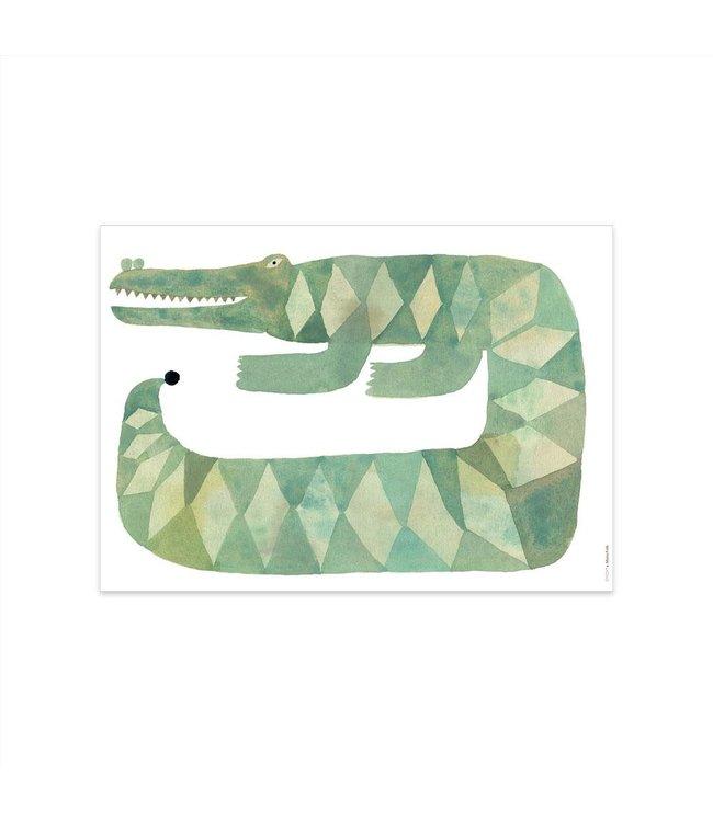OYOY MINI 'Gustav' krokodiel - poster