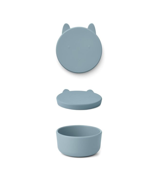 Liewood Charlot snack box - rabbit sea blue