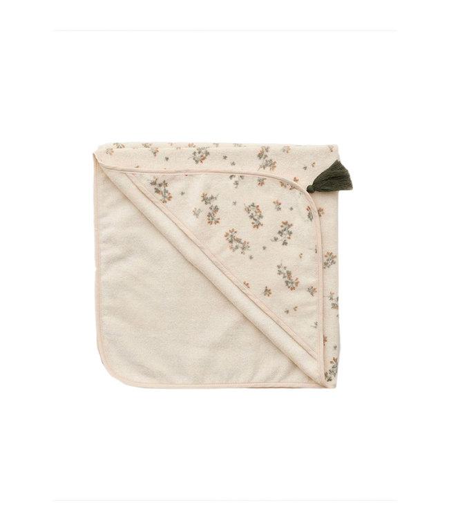 garbo&friends Baby hooded towel - clover
