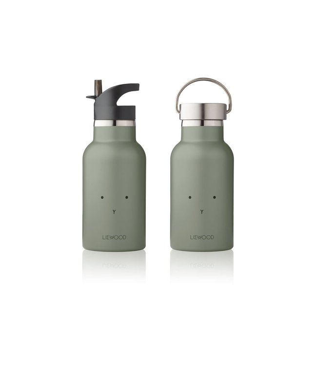 Liewood Anker water bottle - rabbit faune green