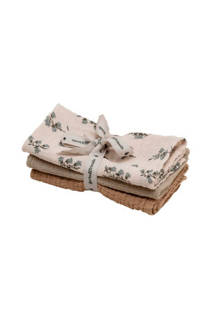 garbo&friends Bluebell burp cloth muslin - set van 3