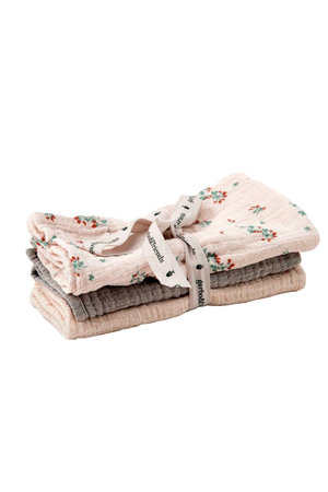 garbo&friends Clover muslin burp cloths  - 3 pcs