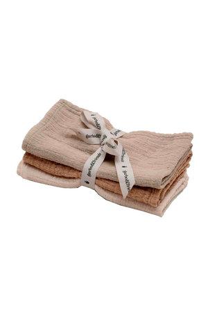 garbo&friends Olive burp cloths - set of 3