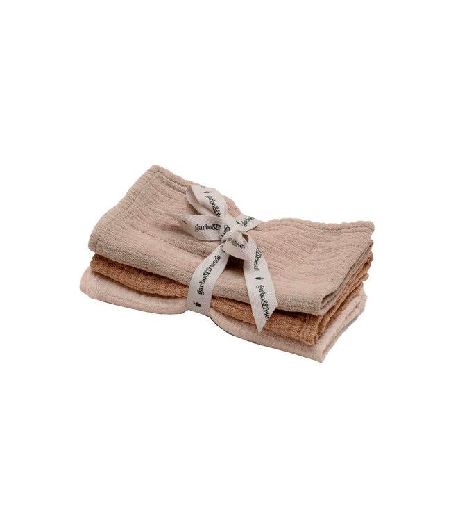 Olive burp cloths - set of 3