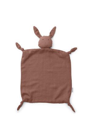 Liewood Agnete cuddle cloth - rabbit dark rose