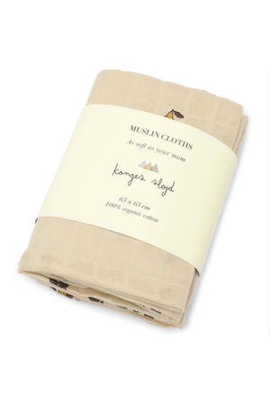 Konges Sløjd 3 Pack muslin cloth - poire
