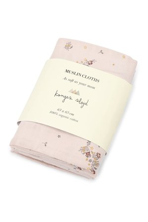 Konges Sløjd 3 Pack muslin cloth - nostalgie blush