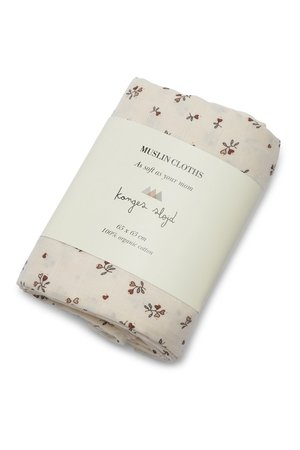 Konges Sløjd 3 Pack muslin cloth - petit amour rose