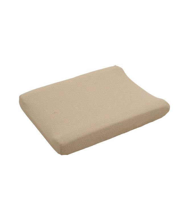 Olive Muslin Changing Mat cover
