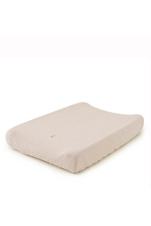 garbo&friends Eggshell muslin changing mat cover