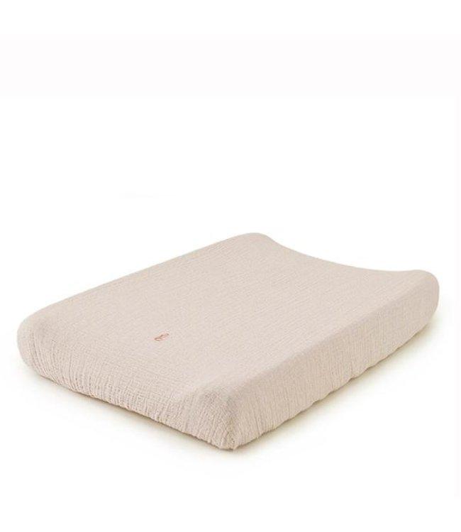 Eggshell muslin changing mat cover