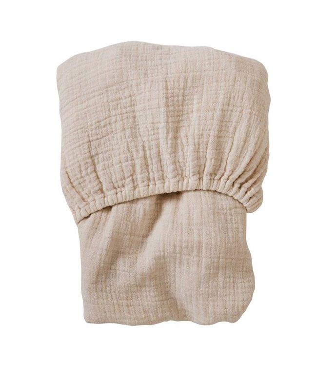 Eggshell muslin fitted sheet junior -