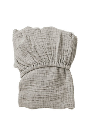 garbo&friends Thyme muslin fitted sheet junior