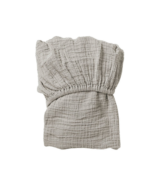Thyme muslin fitted sheet junior