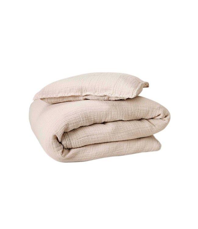 Eggshell muslin bed set