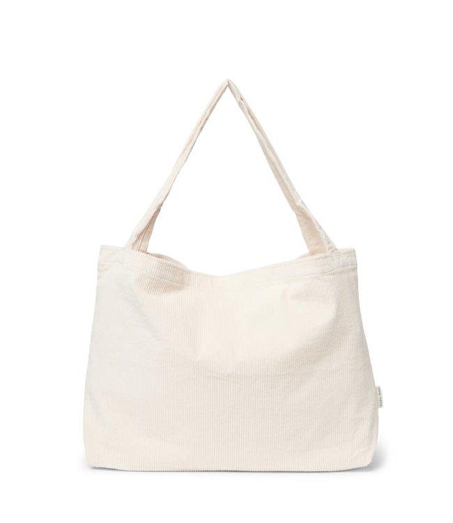 Gebroken wit rib mom-bag