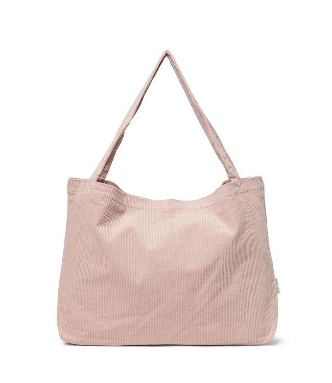Oud roze rib mom-bag