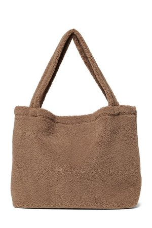 Studio Noos Bruine chunky teddy mom-bag