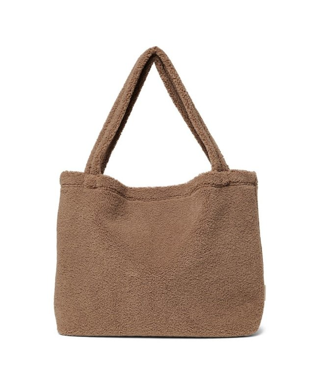 Studio Noos Brown chunky teddy mom-bag